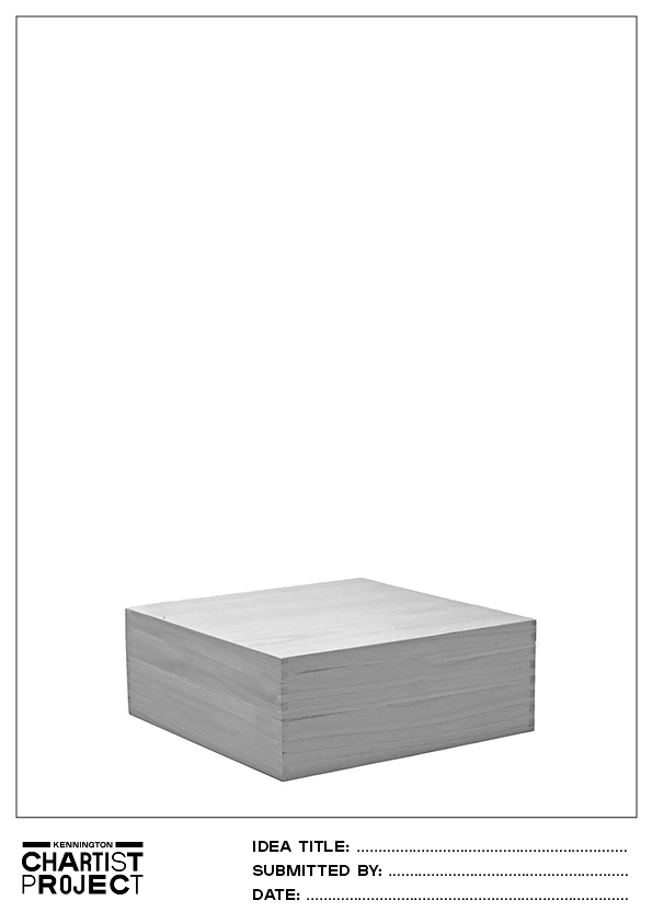 Kennington Chartist Project box plinth template