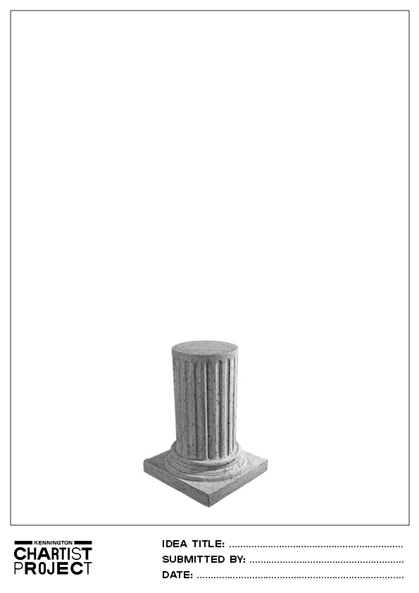 Kennington Chartist Project round plinth template